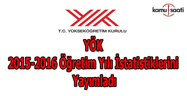 YÖK 2015-2016 öğretim yılı istatistiklerini yayımladı