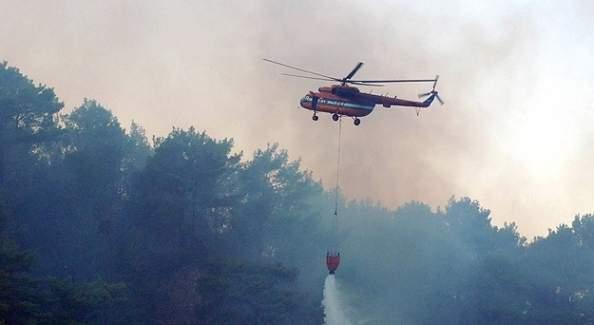 Alanya'da orman yangını başladı!