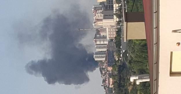Ankara Mamak'ta yangın! Muharebe okulu tarafından duman yükseliyor