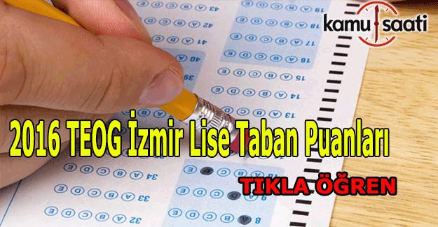 TEOG İzmir Lise Taban Puanları 2016