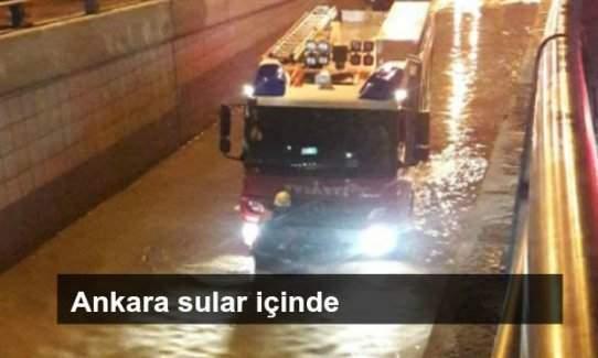 Ankara 20 dakika içinde sular içinde kaldı