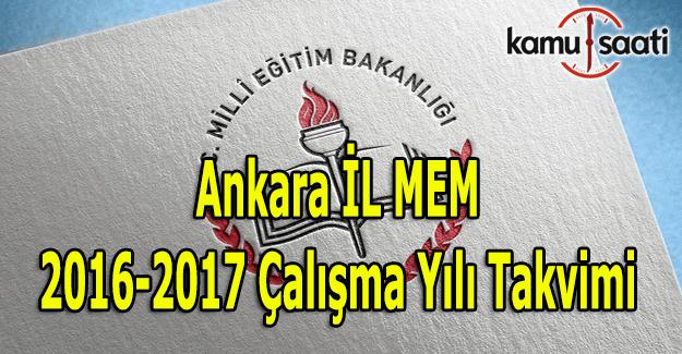 Ankara Eğitim Öğretim Yılı Çalışma Takvimi açıklandı 2016-2017