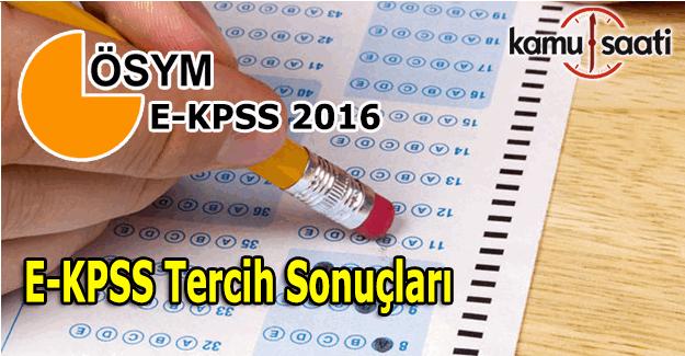 E-KPSS Tercih Sonuçları açıklandı - e-KPSS yerleştirme sonuc sorgula öğren