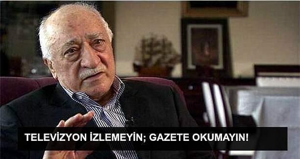 Fethullah Gülen'den uyarı: Televizyon izlemeyin!