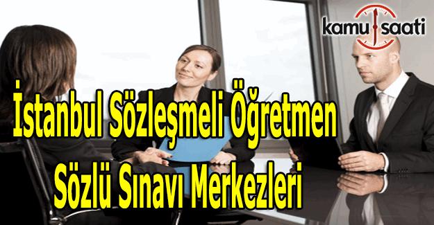 İstanbul sözleşmeli öğretmen mülakat merkezleri açıklandı