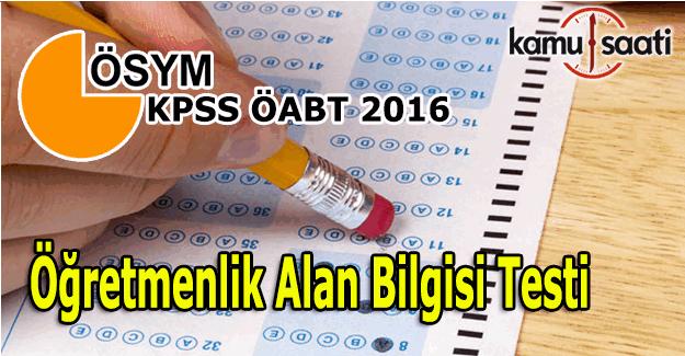 KPSS ÖABT sona erdi - Öğretmenlik alan bilgisi sınavı nasıldı?