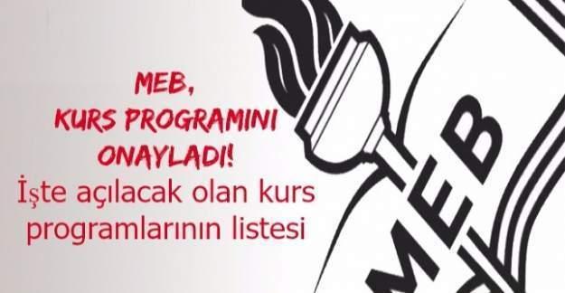 MEB, kurs programını onayladı! İşte açılacak olan kurs programları