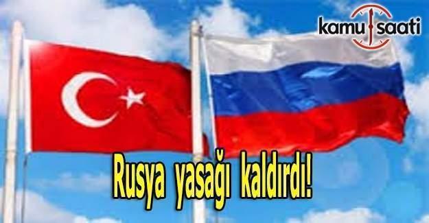 Rusya,Türkiye'ye yönelik charter uçuş yasağını kaldırdı