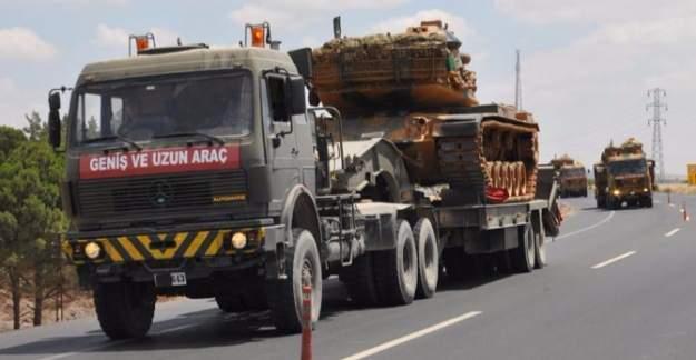 Tanklar Suriye sınırına yerleştiriliyor