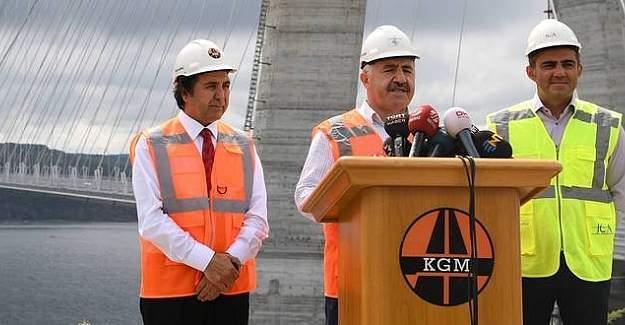 Yavuz Sultan Selim Köprüsü'nün açılış tarihi belirlendi