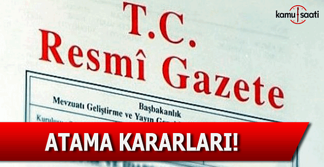 20 Eylül 2016 tarihli atama kararları - Resmi Gazete atama kararları!