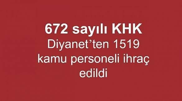 672 sayılı KHK ile Diyanet'ten ihraç edilenlerin isim listesi (Tam liste)