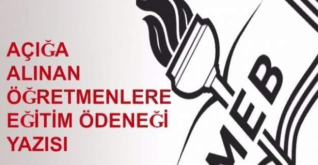 MEB'den açığa alınan öğretmenlere eğitim ödeneği yazısı