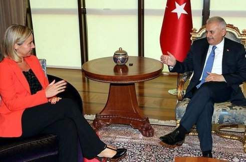 Başbakan Yıldırım AB Heyetini kabul etti
