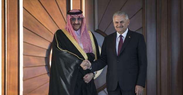 Binali Yıldırım, Suudi Arabistan veliaht prensiyle görüştü