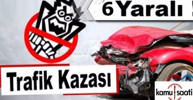 Bursa'da 2 otomobil kafa kafaya çarpıştı!