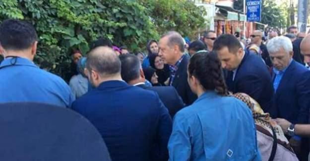 Cumhurbaşkanı Erdoğan'dan eniştesine taziye ziyareti