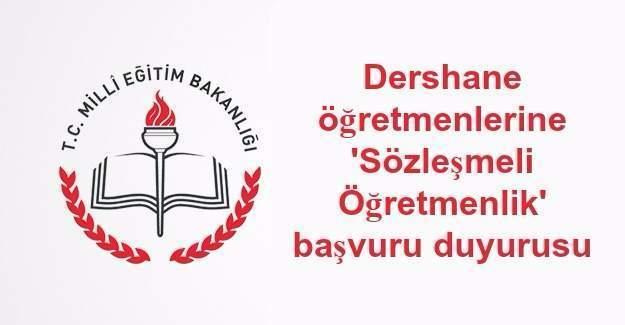 Dershane öğretmenlerine 'sözleşmeli öğretmenlik' başvuru duyurusu
