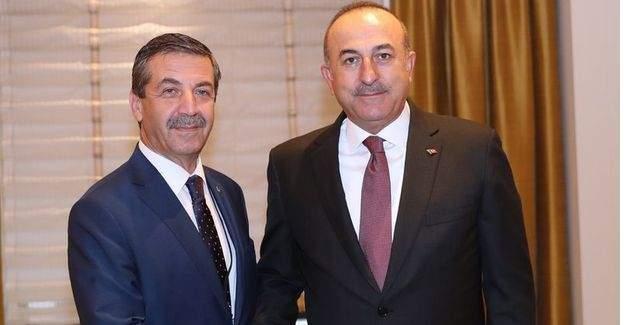 Dışişleri Bakanı Mevlüt Çavuşoğlu, KKTC Dışişleri Bakanı ile görüştü!