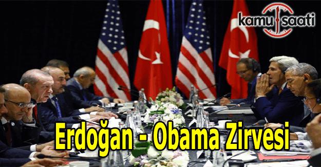 Erdoğan, Obama görüşmesi basın açıklaması - Obama-Erdoğan Zirvesi açıklamalar