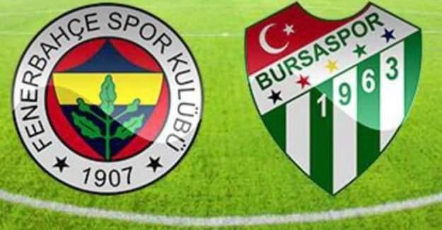 Fenerbahçe Bursaspor maçı bitti!!!