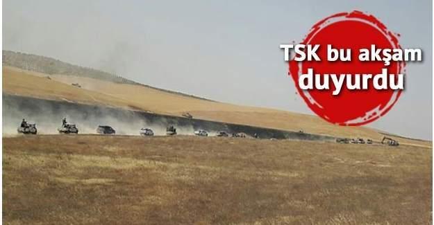 Fırat Kalkanı Harekatı'nda DAEŞ mevzileri bombalarla vuruluyor