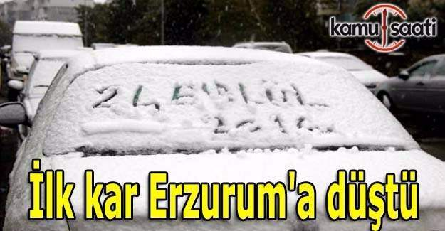 İlk kar Erzurum'a düştü