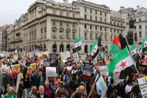 İngiltere'de sığınmacılara destek eylemi