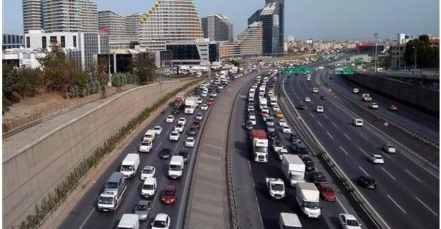 istanbul'da bayram trafiği başladı!!!