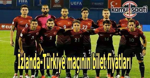 İzlanda-Türkiye maçının bilet fiyatları