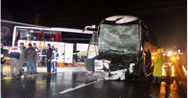 Karabük'te feci kaza : 68 yaralı