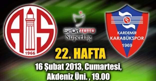Karabükspor - Antalyaspor maç sonucu!