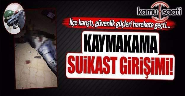 Kaymakam Halit Benek'e suikast girişimi
