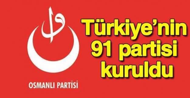 """""""Lider Türkiye"""" sloganıyla 91. partimiz Osmanlı Partisi kuruldu!"""