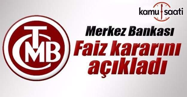 Merkez Bankası faiz kararı açıklaması