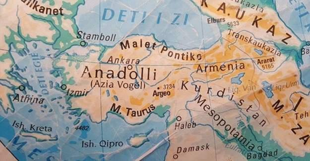 Okullara Dağıtılan Türkiye Haritası'nda Tepki Çeken Detay!