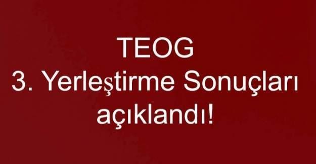 TEOG 3. Yerleştirme Sonuçları açıklandı! Teog 3. nakil sonuçları öğren