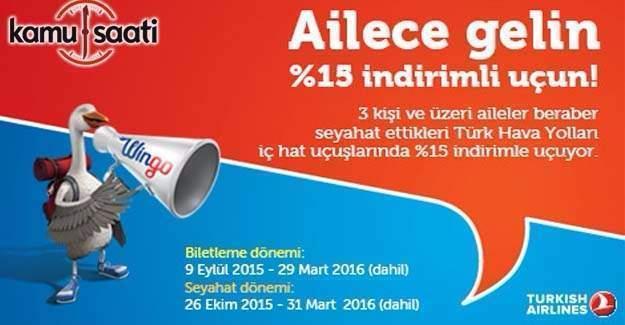 Türk Hava Yolları'ndan aile indirimi kampanyası