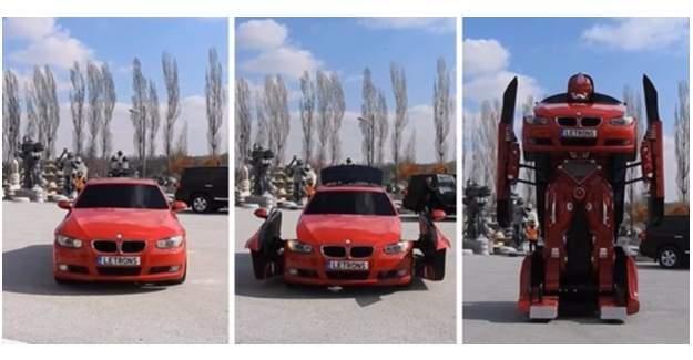 Türk mühendisler BMW'yi Transformers'a çevirdi.