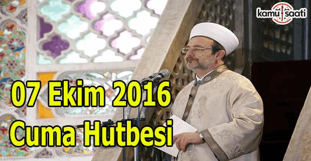 07 Ekim 2016 Cuma Hutbesi yayımlandı İl-İl Cuma saatleri