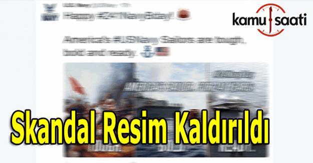 ABD donanması tepki çeken paylaşımı kaldırdı