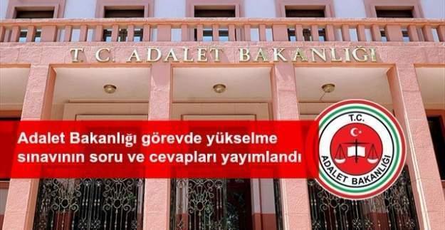 Adalet Bakanlığı görevde yükselme sınavının soru ve cevapları
