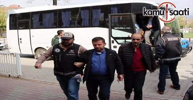 AK Partili eski ilçe başkanında bulunduğu 25 kişi adliyeye sevk edildi