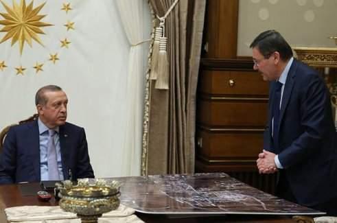 Cumhurbaşkanı Recep Tayyip Erdoğan, Başkanı Melih Gökçek'le görüştü