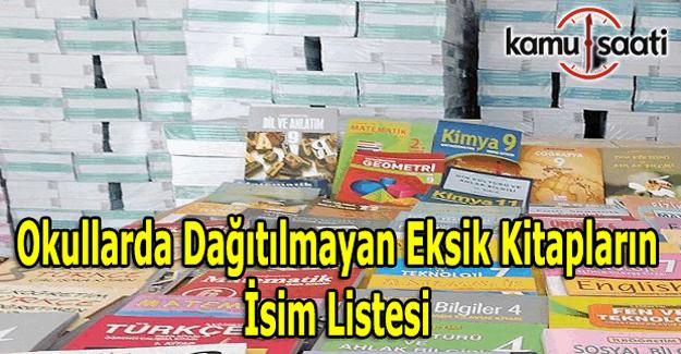 Okullarda dağıtılmayan eksik kitapların isim listesi - Kitaplar ne zaman dağıtılacak?