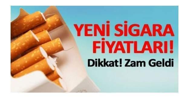Yeni Sigara fiyatları sigaraya zam geldi