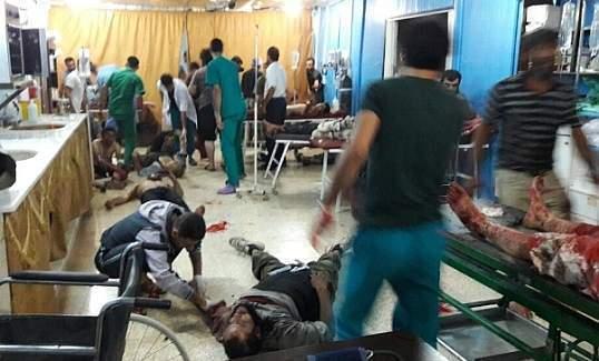 Sınırdaki Atme çadır kentine bombalı saldırıda 30 kişi öldü