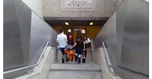 Şişhane Metro istasyonu'nda seferler durduruldu