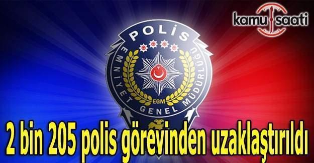 2 bin 205 polis görevinden uzaklaştırıldı