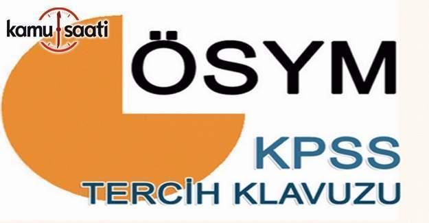 2016 KPSS Önlisans Tercih Kılavuzu yayımlandı
